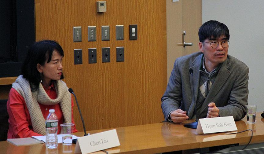 Liu Chen and Kim Hyon-Sob