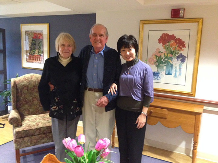 Ellen Widmer, Pat Hanan and Hu Siao-chen,  November 2013
