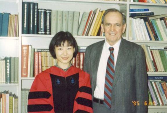 Hu Siao-chen and Pat Hanan, 1995