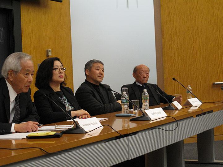 Hirano Kenichiro, Park Hyungji, Wang Hui, and Zhang Longxi