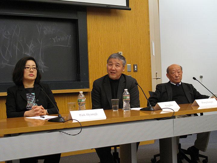 Park Hyungji, Wang Hui, and Zhang Longxi