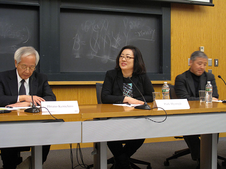 Hirano Kenichiro, Park Hyungji, and Wang Hui
