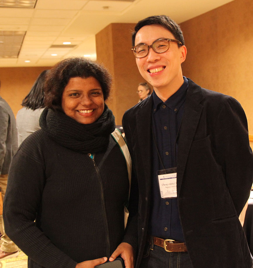 Barnali Chanda and Perry Chang at HYI AAS Reception Denver