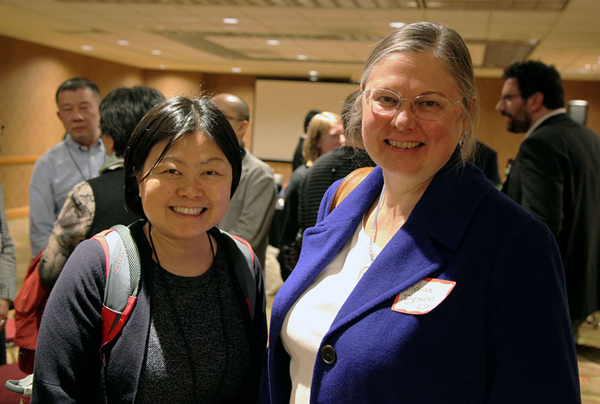 Daisy Yan Du and Melissa Brown at HYI AAS Reception Denver