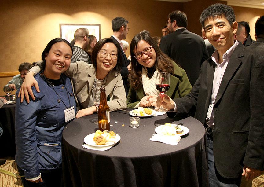 Pham Thi Thanh Huyen, Kang Jin-A, Hoang Cam Giang and Wang Horng-luen at HYI AAS Reception Denver