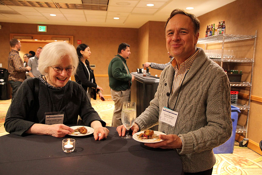 Joanna Handlin Smith and Wesley Jacobsen at HYI AAS Reception Denver