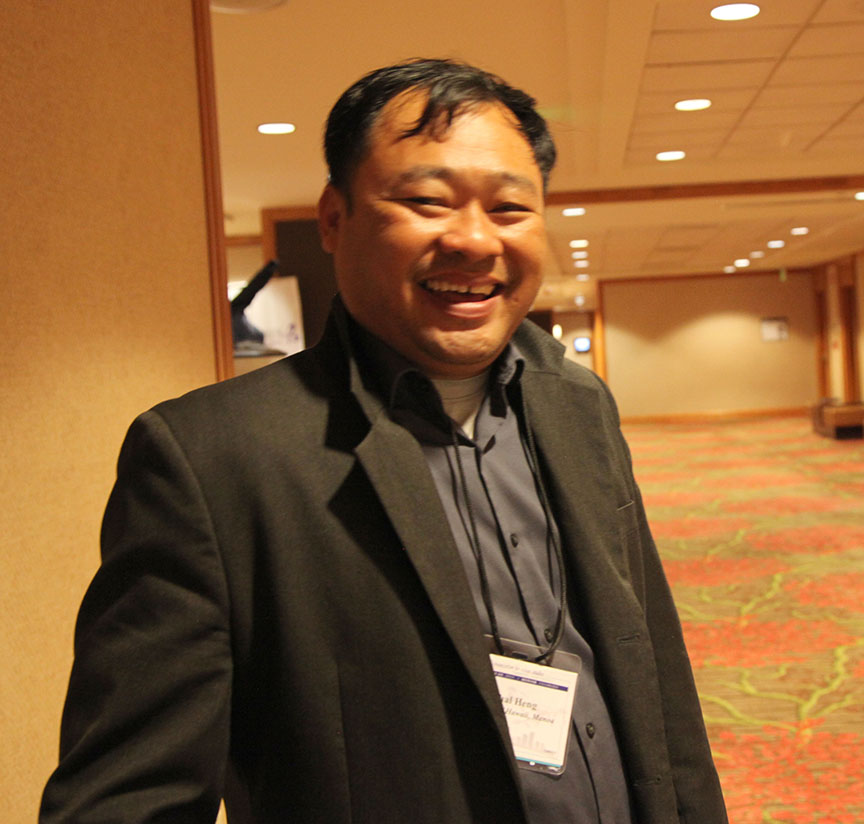 Piphal Heng at HYI AAS Reception Denver
