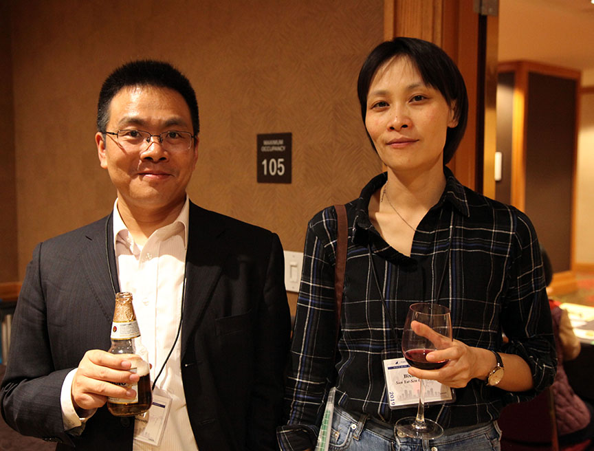 Li Lifeng and He Bixiao at HYI AAS Reception Denver
