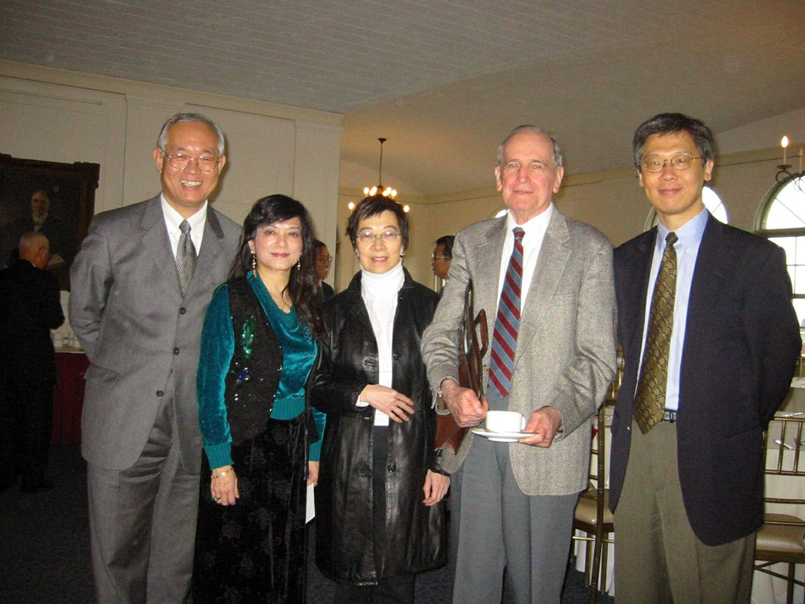 Tungjung Chen , Phoebe Phong Chang, Stella Yu Li, Patrick Hanan, and David Wang, at Columbia University, October 2005