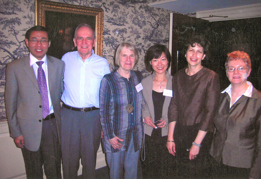 Pat Hanan and colleagues at the Harvard Faculty Club